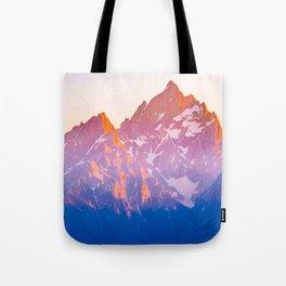 Grand Teton Mountains Peak Print Tote Bag
