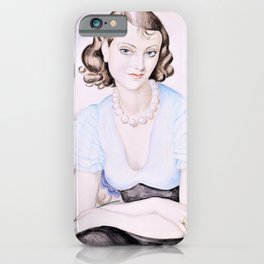 Gerda Wegener - Portrait of a young woman - Digital Remastered Edition iPhone Case