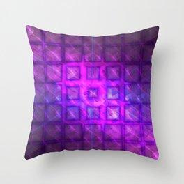 Celestial Rain Tiles Throw Pillow