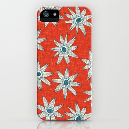 sema fire orange blue iPhone Case