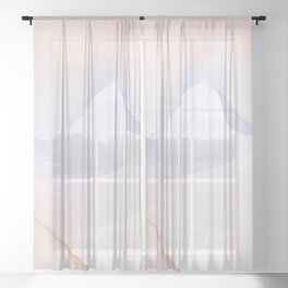 Colorful Waves Sheer Curtain