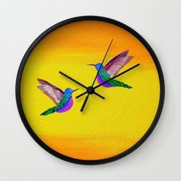 Hummingbird Sunset Wall Clock