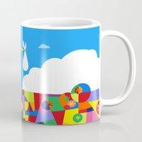 nursery Mugs featuring Up! Nursery Art by foreverwars