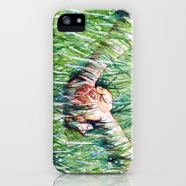 holding hands in the rain iPhone Case