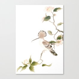 Japan Spring Flowers and Birds Canvas Print