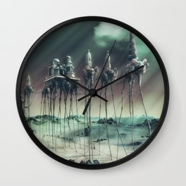 -Caravan Dali- GREEN Wall Clock