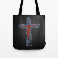 jesus Tote Bags featuring Jesus by biblebox