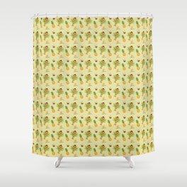 Tiki Luau Girl Pattern Shower Curtain