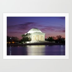 Jefferson Sunset Art Print