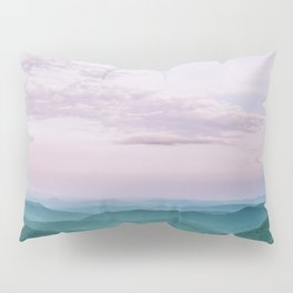 Pink Sunset over the Blue Ridge Mountains Pillow Sham