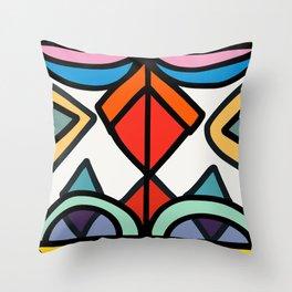 African Geometric Pattern Joyful Art  Throw Pillow