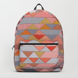 Triangle Pattern no.5 Gold, Pink and Brown Backpack