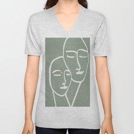 Abstract Masks Unisex V-Neck