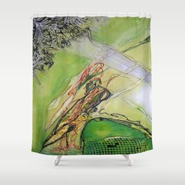 Songs of Evil I - Mixed Media Acrylic Abstract Modern Fine Art, 2012 Shower Curtain