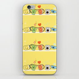 Pattern with cups. iPhone Skin