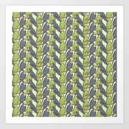 Budgie Parrot Bird Pet Pattern Gift Art Print