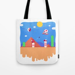 Tiny Worlds - Super Mario Bros. 2: Toad Tote Bag