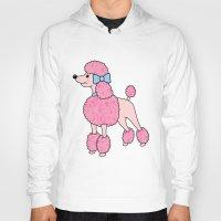 poodle Hoodies featuring Pink Poodle by Jade Boylan