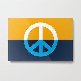 Peace Symbol - People's Flag of Milwaukee Metal Print