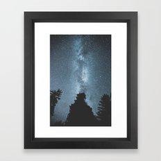 Stars over the Forest Framed Art Print