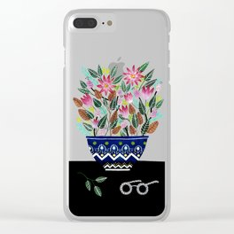 Flowers in a Vase 2 Clear iPhone Case