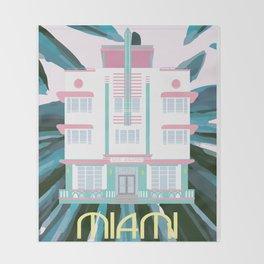 Miami Landmarks - McAlpin Throw Blanket