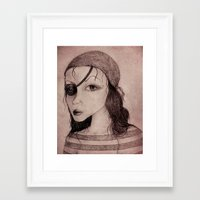 pirate Framed Art Prints featuring Pirate by CokecinL