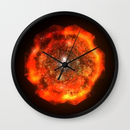 The Eye Of Cyma: Fire And Ice - Frame 146 Wall Clock