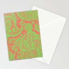 Sherbet Paisley Stationery Cards