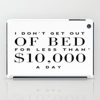 bed iPad Cases featuring BED by I Love Decor