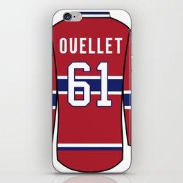 Xavier Ouellet Jersey iPhone Skin