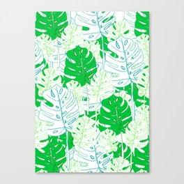 Banana Leaf in Teal Canvas Print