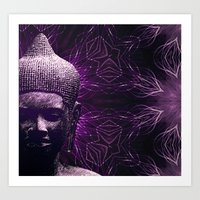 meditation Art Prints featuring Meditation by JG-DESIGN
