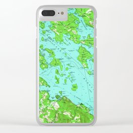 Vintage Map of Lake Winnipesaukee (1956) Clear iPhone Case