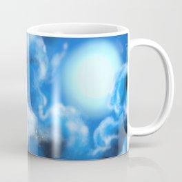 Dungeons, Dice and Dragons - White Dragon Coffee Mug