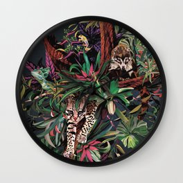 Rainforest corner Wall Clock