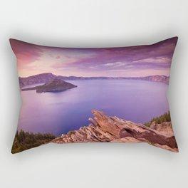 Crater Lake Sunset Rectangular Pillow