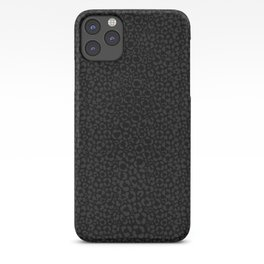 Subtle Black Panther Leopard Print iPhone Case