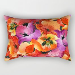 Poppies for Fun Rectangular Pillow