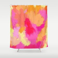 Pink, Orange and Yellow Watercolors Shower Curtain
