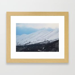 Blue Behind The Mountains 3 Framed Art Print