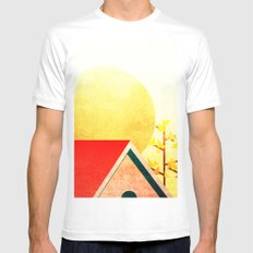 Behind the roof Mens Fitted Tee MEDIUM White