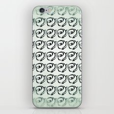 Rows of Flowers, Mint Green iPhone & iPod Skin