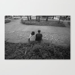 Solitary in a park Canvas Print