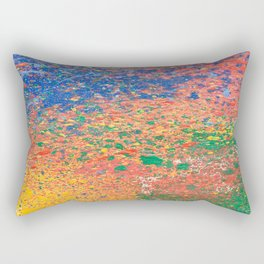 Colorful ink drops on white Rectangular Pillow