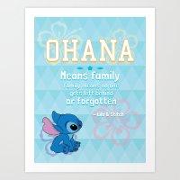 ohana Art Prints featuring Ohana by Tiffany 10