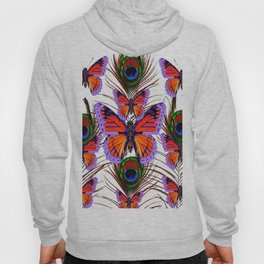 LILAC  FANTASY BUTTERFLIES GREEN PEACOCK EYES Hoody