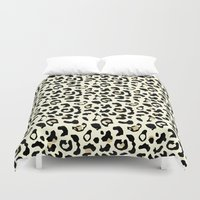 leopard Duvet Covers featuring Leopard by Laura Maria Designs