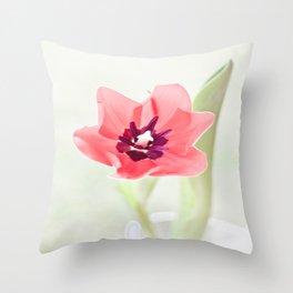 Pretty Pink Tulip Throw Pillow