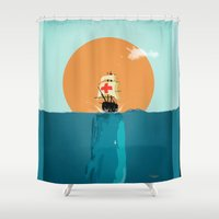 fish Shower Curtains featuring fish  by mark ashkenazi